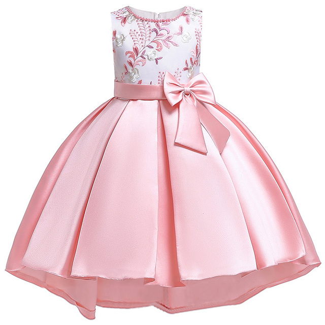 2019 Flower Girls dress for Girls Kids Clothing Beaded embroidery Wedding Girls Dresses for Children Party Trailing Custumes