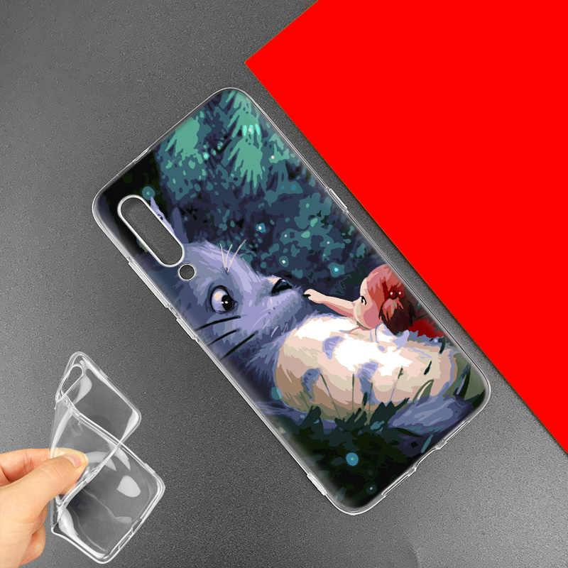 חמוד סטודיו Ghibli Totoro מקרה עבור שיאו mi אדום mi הערה 8 8T 9S 7 9 פרו 7A k30 זום MI 10 5G CC9 9T 9T A3 Poco X2 F2 טלפון שקיות