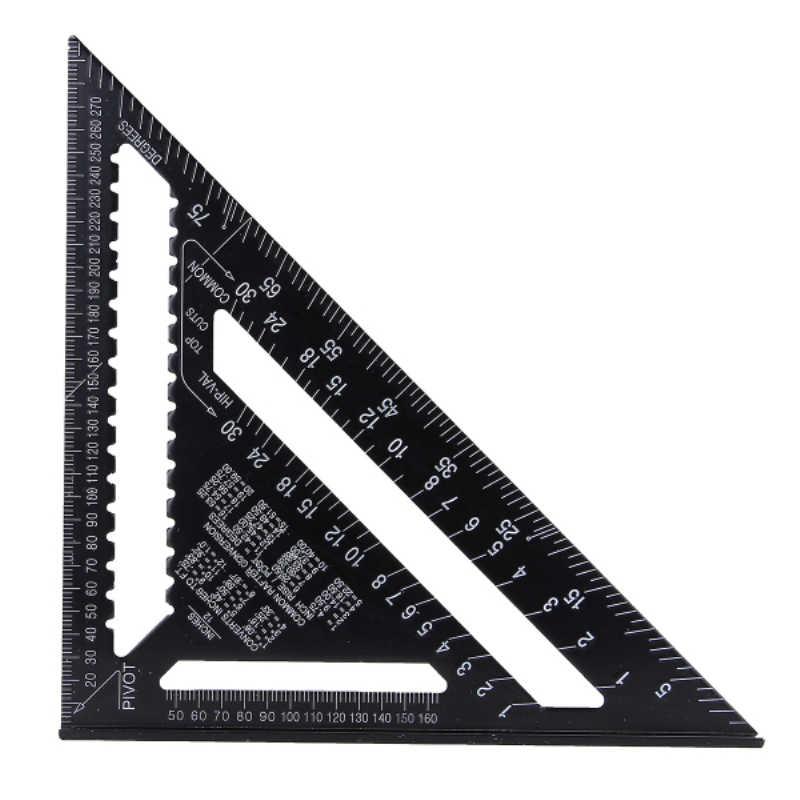 12 cal Metric stopu aluminium trójkąt linijka kątowa kątomierz do obróbki drewna narzędzie pomiarowe 30cm szybkie odczytu plac układ miernik