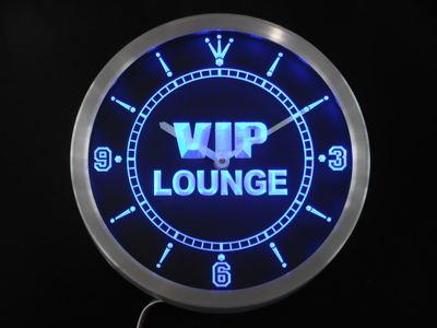 Nc0413 VIP Lounge Bar Beer Club Pub Wine Neon Light Signs LED Wall Clock