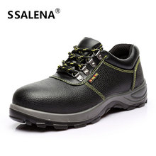 Men Warm Safety Work Boots Male Puncture Proof Labor Insurance Shoes Men Lace-Up Labor Insurance Leather Shoes AA51607