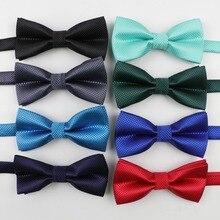 Дети полиэстер бабочкой Классические однотонные Цвет бабочка галстук для свадебной вечеринки Детский костюм со смокингом, Дики галстук-бабочка для домашних питомцев