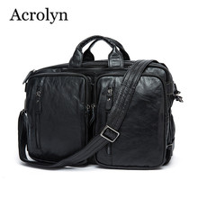 Cowhide Bag Men's Genuine Leather Handbag Portable Multifunctional Man Large Travel Shoulder Bag