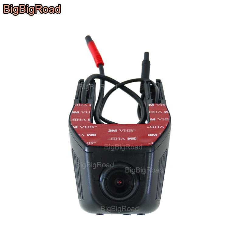 BigBigRoad For vw Volkswagen Passat B6 B5 Sagitar transporter t5 Routan caddy Wifi DVR Dual Lens Car Black Box video Recorder bigbigroad for nissan qashqai car wifi dvr driving video recorder novatek 96655 car black box g sensor dash cam night vision