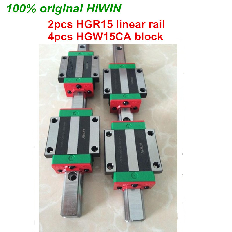 100 original HIWIN 2pcs HGR15 200mm 300mm 400mm 500mm 600mm 700mm 800mm 1000mm Linear Guide rail