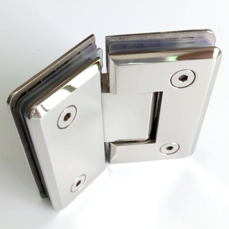 135 Degree Shower Door Hinge Glass Clamp 304 Stainless Steel Spring Hinges Door Clip For Bathroom 6~12mm Thick Glass HM81 black titanium 180 degree hinge open 304 stainless steel glass shower door hinges for home bathroom furniture hardware hm156