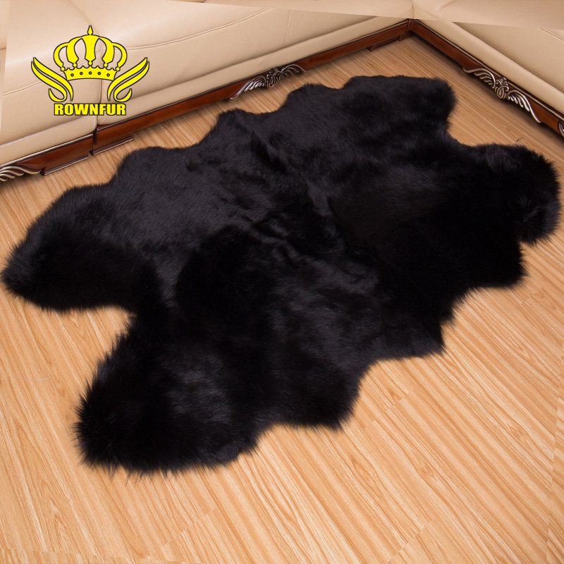 ROWNFUR Soft Artificial Sheepskin Carpet For Living Room Kid Bedroom Bath Mat Chair Cover Fluffy Anti