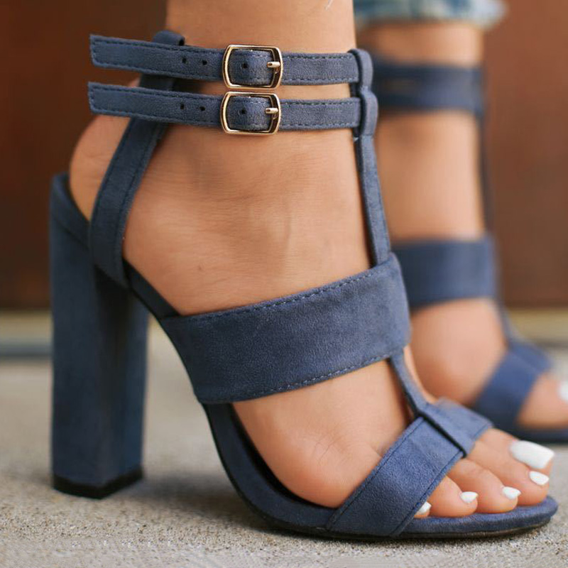 Plus Size Summer High Heels New Women Shoes Block Heels Women Pumps Ladies Shoes Women Sandals Classic Pumps Women Heels Female