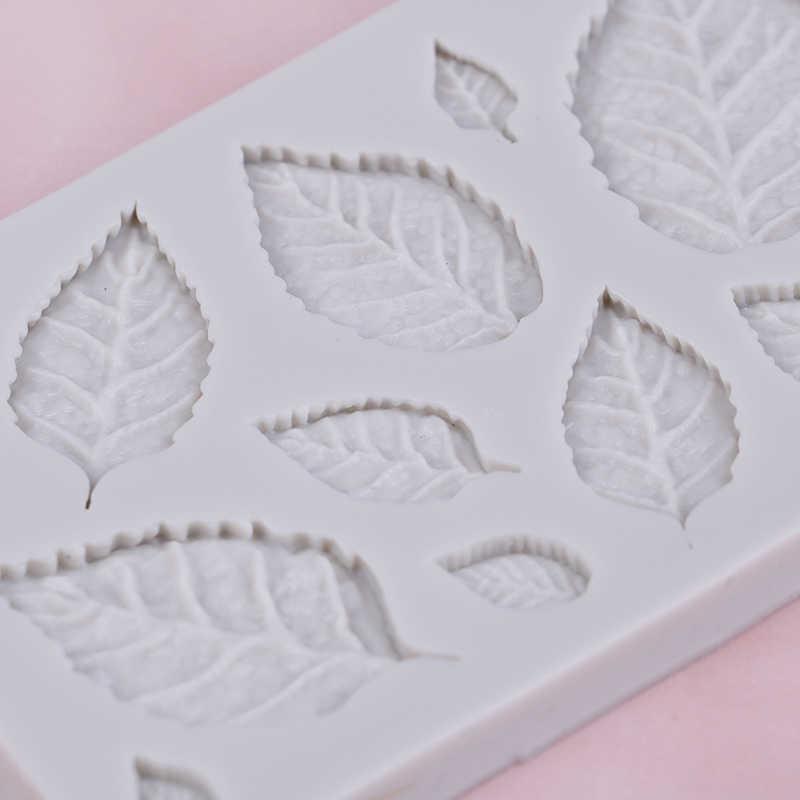 Nuovo arrivo foglie di Rosa del sapone del silicone accessori da cucina muffa della torta della muffa Gumpaste Candy biscotti strumenti di Decorazione Della Torta Del Fondente