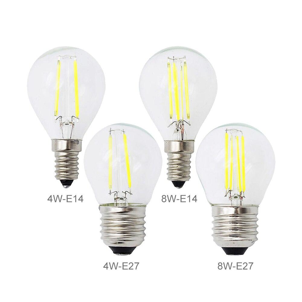 retro e27 2w 4w 8w led filament lamp e14 dimmable bulb. Black Bedroom Furniture Sets. Home Design Ideas