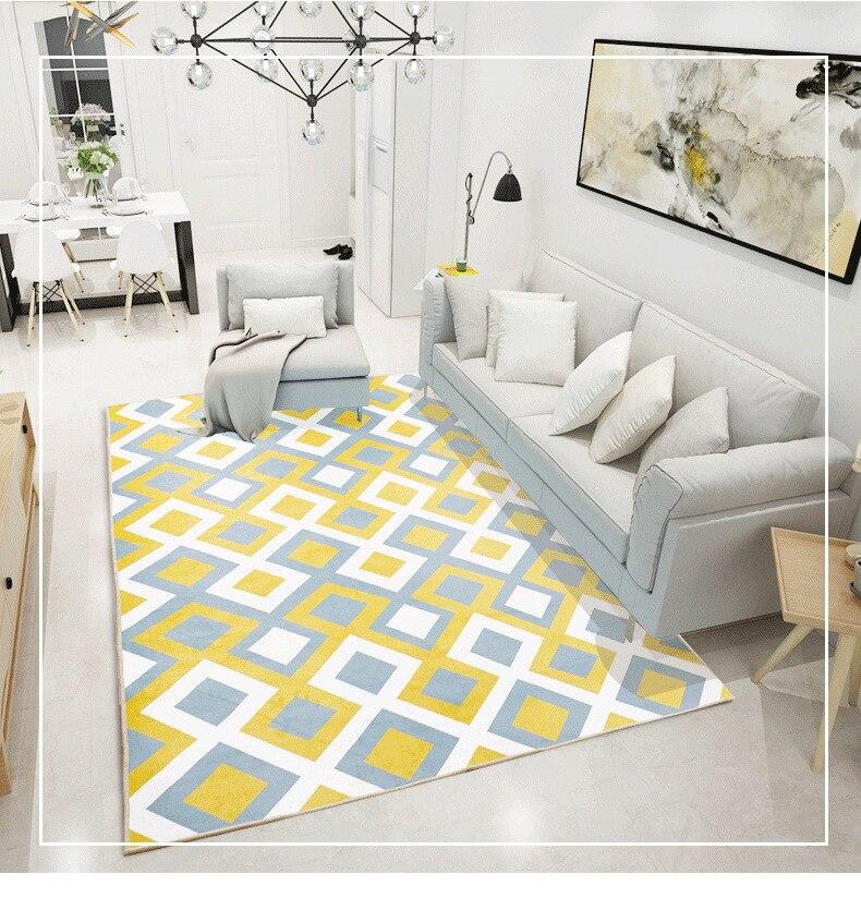 Salon maison tapis antidérapant doux tapis chambre moderne tapis Pad 140cm * 200cm peluche tapis zone tapis pour salon