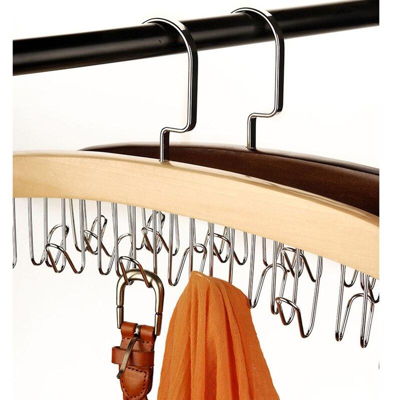 Urijk 1 STÜCK Holz Kleiderbügel Kleidung Veranstalter Speicher Schal  Krawatte Gürtel Rack Hängen Holz Aufhänger Wandschrank Organisator  Schlafzimmer