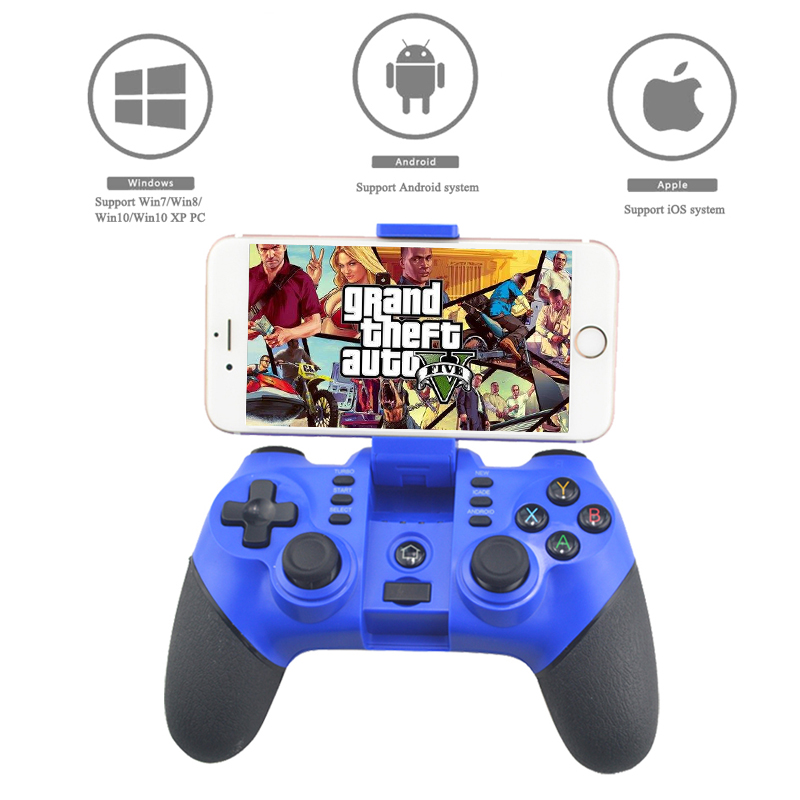 Wireless Gamepad Bluetooth Joystick Controller For PS3 Game console For Android For iOS System Cellphone For Windows PC System 2 4g wireless type c game controller joystick gamepad otg receiver for xiaomi android smart phone for ps3 game console 5 colors