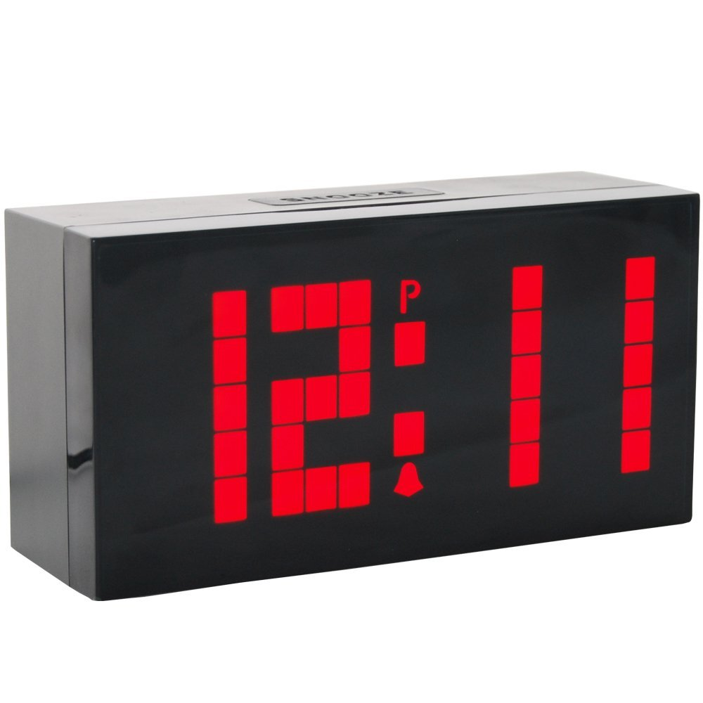 Stor Jumbo Big Screen LED Digital Wall Desk Alarmklokke Countdown Timer med Kalender Temperatur Natlys til Soveværelse