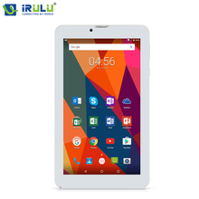 "iRULU X6 Phone Call 7"" Tablet Android 7.0 Quad Core 3G Phablet 1024x600 IPS 16GB Ultra Slim Netbook With RUSSIAN Keyboard Case"