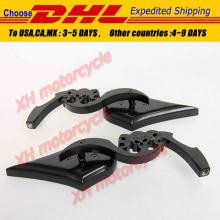 motorcycle partsBlack Custom Skull Blade Mirror fit for  CBR CBR600 900 929 954 1000RR