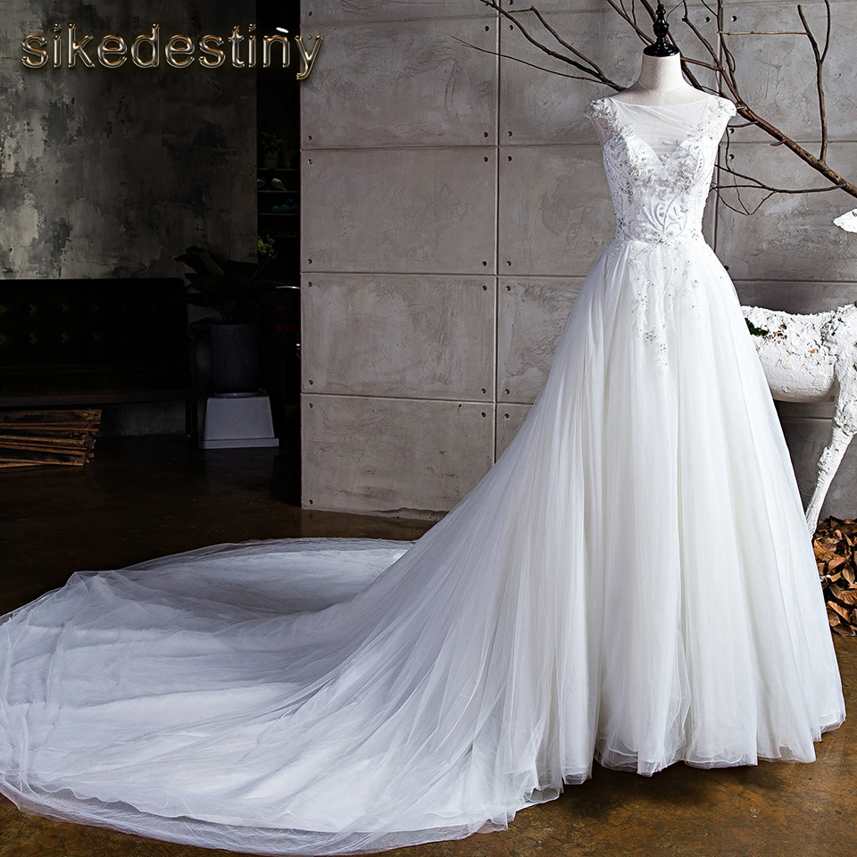 Sikedestiny Luxury Flowers Wedding Dresses Real Pictures