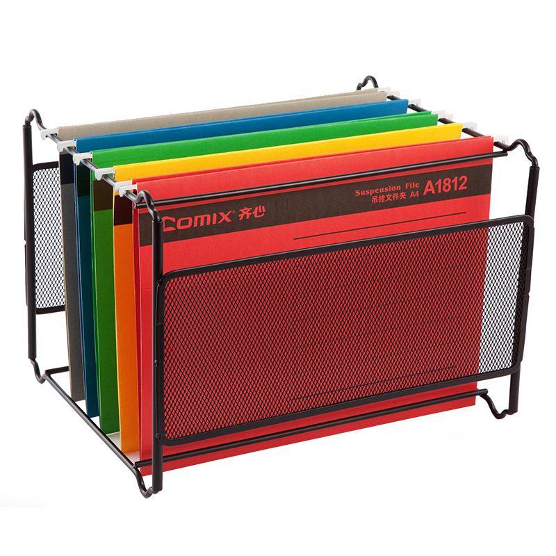 Metal Desk Accessories Mesh Hanging File Folder Frame Documents Holder Organizador A4 FC Size for Company Office Supplies packaging and labeling