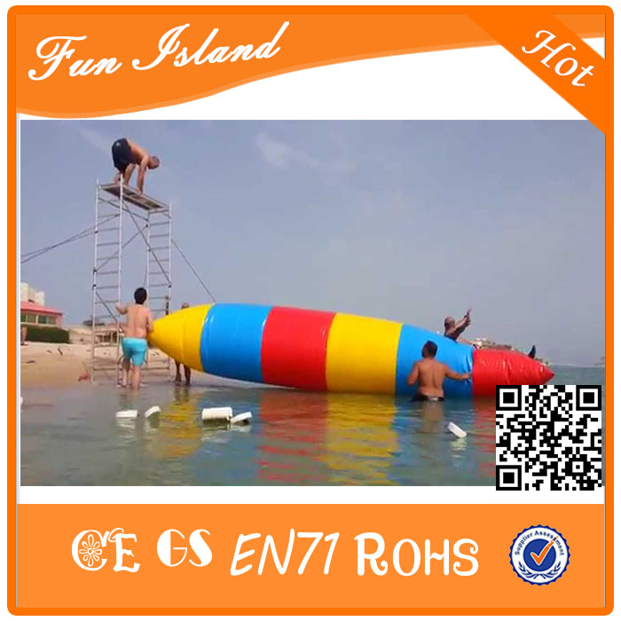 Free Shipping 7x3m Water Inflatable Game Inflatable Water Blob,Aqua Blob Jump ,Water Catapult Blob For Sale