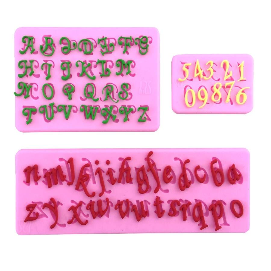 Zahlen Englisch Buchstaben Fondant Kuchen Werkzeug Kuchen Formen