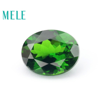 Excellent natural chrome diopside gem for jewelry making,7X9mm round cut 2ct DIY loose gemstones with high quality