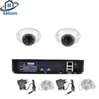 SSICON 1080 P рыбий глаз видеонаблюдения Системы 2 шт. 2.0MP мини 180 градусов IP Камера HD 1080 P видеорегистратор безопасности Камера наблюдения Системы