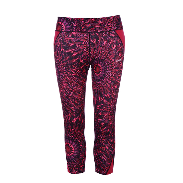 U Women's Yoga Capris Mesh Spiral Cherokee Compression Tights ...