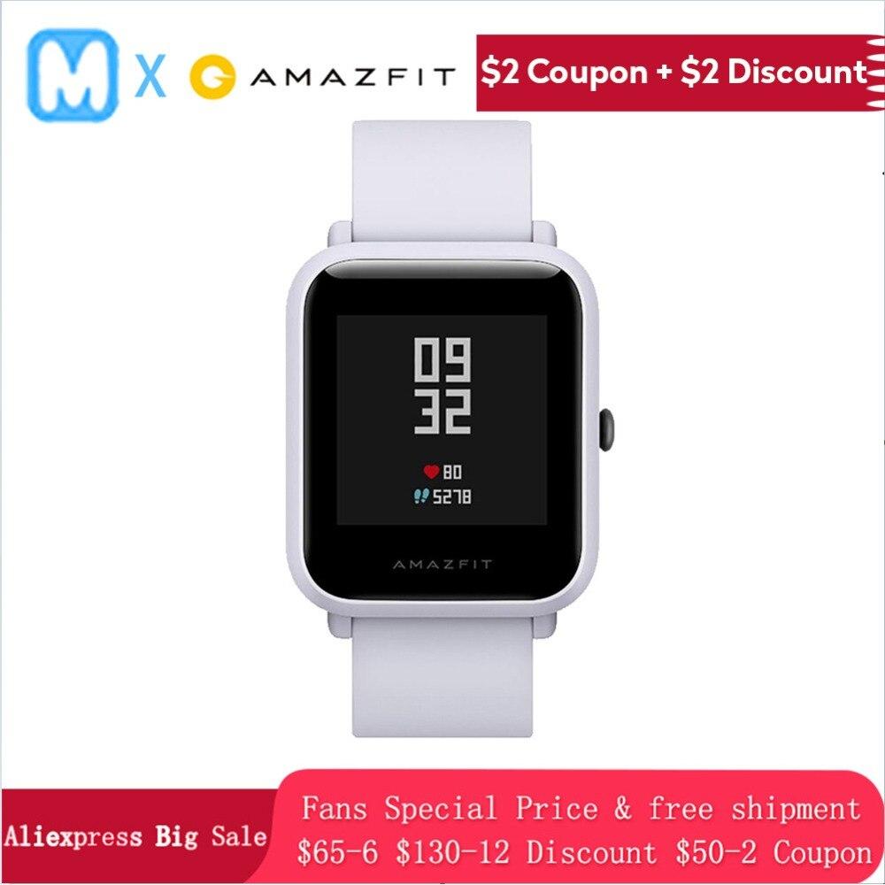 Version anglaise Hua mi Amazfit Bip Pace Lite 100% montre intelligente originale mi Fit réflexion Smartwatch étanche pour Xiao mi