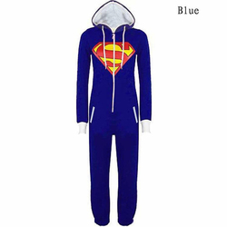 New winter unisex pyjamas superman and bat man solid hooded onesies for adults sleepwear for women.jpg 250x250