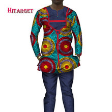 2019  New Fashions Dashiki Men Tops Set Brand Clothing 6XL Mens Shirt and Trousers Two Pieces African WYN209