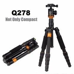 Briquet QZSD Q278 trépied Compact léger à tête monopode pour Canon Nikon DSLR Camere/support d'appareil photo réflexé Portable