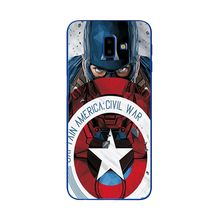 The Avengers Captain America Phone Case For Samsung Galaxy J4 Plus 2018 Silicone A750 Unique Cover For Samsung J6 Plus 2018 J6+