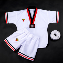 Spring Summer Taekwondo Clothing Children Adult Cotton Polyester Long-sleeved Short-sleeved Men Women Training Clothes
