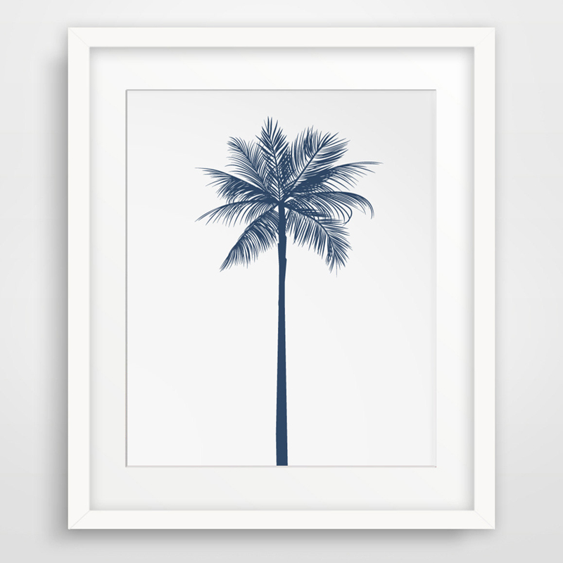 aliexpresscom buy new palm tree navy blue canvas With best brand of paint for kitchen cabinets with palm tree canvas wall art