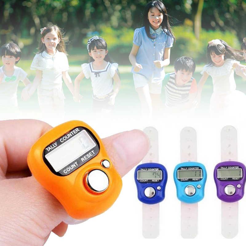 Встроенный аккумулятор lcd стежка Маркер цифровой счетчик электронный счетчик числа, счёт счетчик пальцев компактный щелчок
