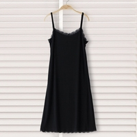 2019 summer large full slips women long gown sheer black underdress sexy nightdress transparent backless intimates slips