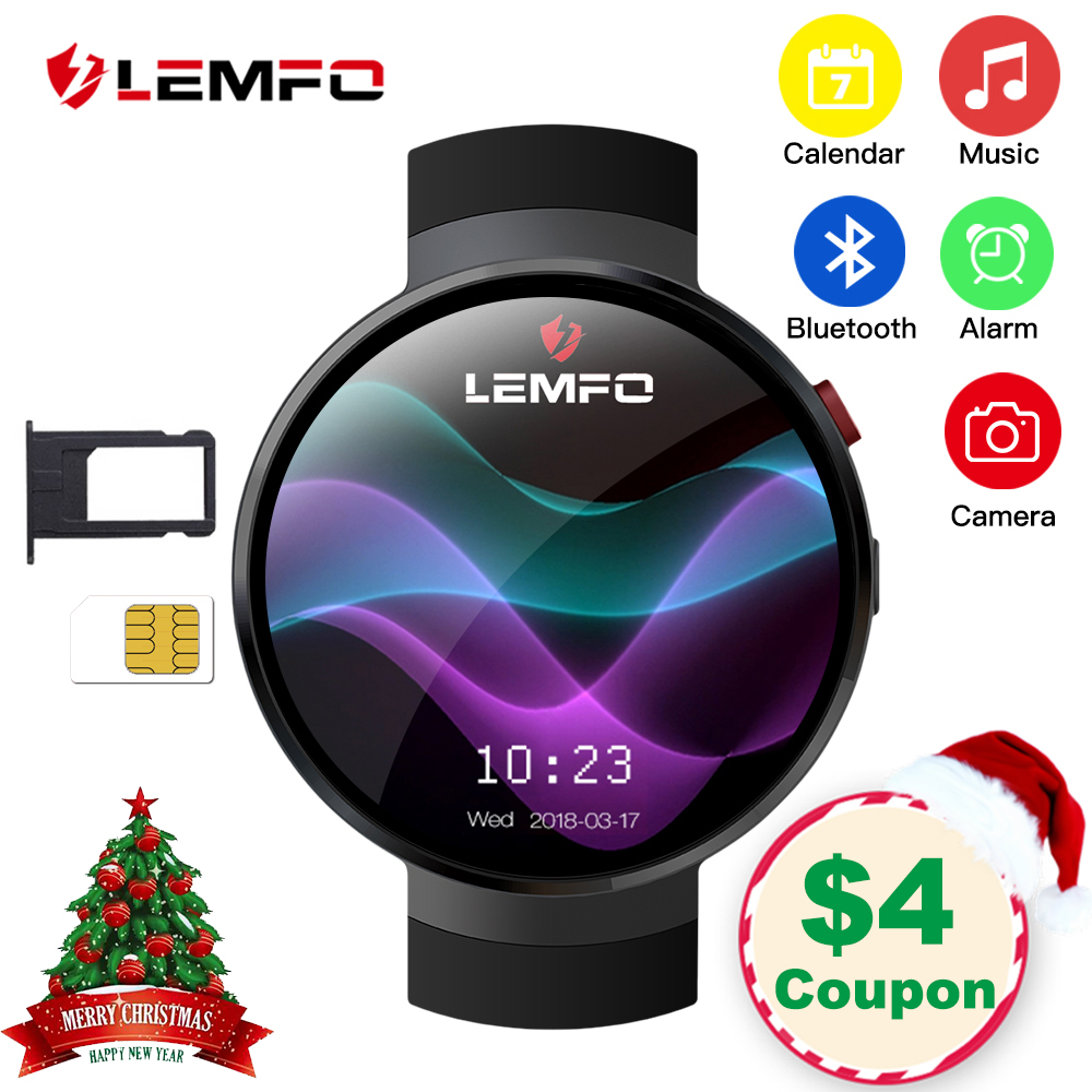 LEMFO LEM7 умные часы Android 7.1.1 LTE 4G Sim 2MP камера gps wifi пульсометр 1 ГБ + 16 ГБ памяти с камерой Smartwatch для мужчин