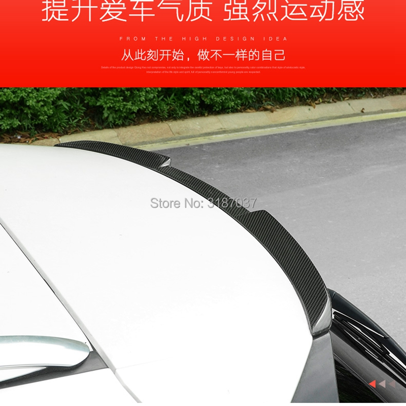 FOR <font><b>LEXUS</b></font> NX <font><b>NX200</b></font> NX200t NX300h 2015 2016 2017 2018 Roof Carbon Fiber Rear Roof Spoiler Wing Trunk Lip Boot Cover Car Styling image