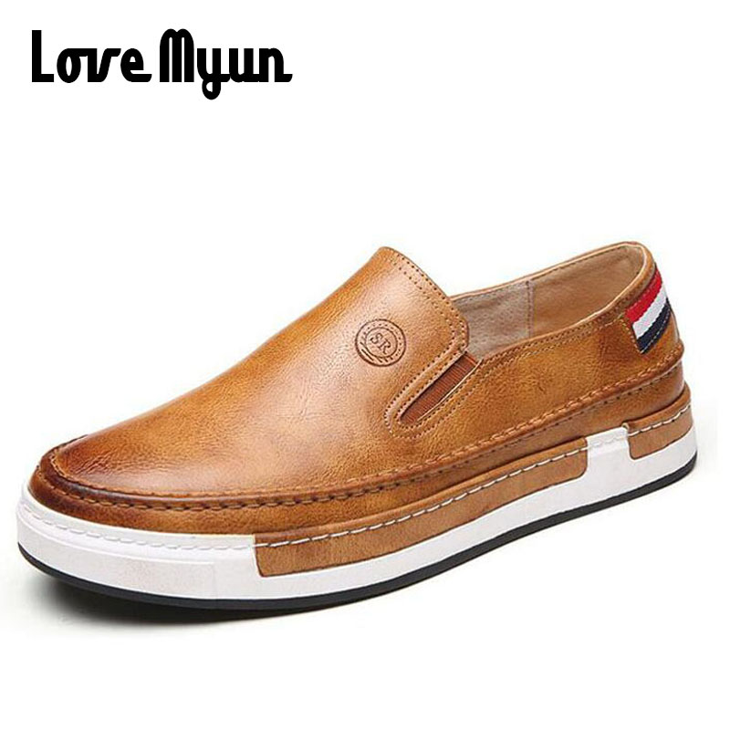 High quality thick soled Loafers Driving Shoes men leather Flat shoes casual slip on Men fashion breathable Sneakers AA-54 spring high quality genuine leather dress shoes fashion men loafers slip on breathable driving shoes casual moccasins boat shoes