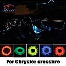 9 Выбор Цвета EL Провода Для Chrysler crossfire/Украшение Автомобиля Холодный легкая Атмосфера Лампа/9 М Набор/DIY Декоративные Ленты