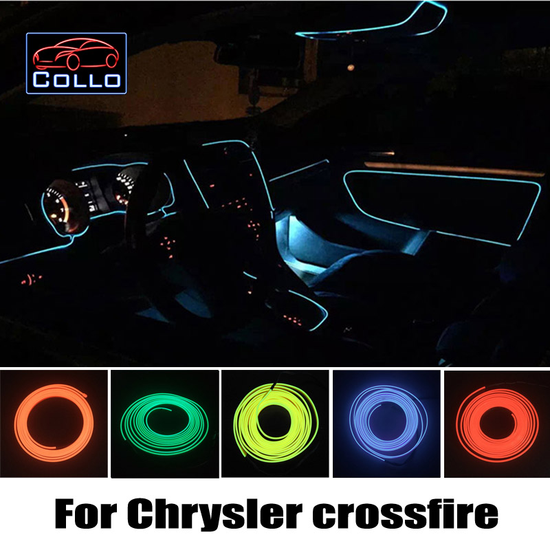 9 Color Choice EL Wire For Chrysler crossfire / Car Decoration Cold Light Atmosphere Lamp / 9 Meter A Set / DIY Decorative Strip