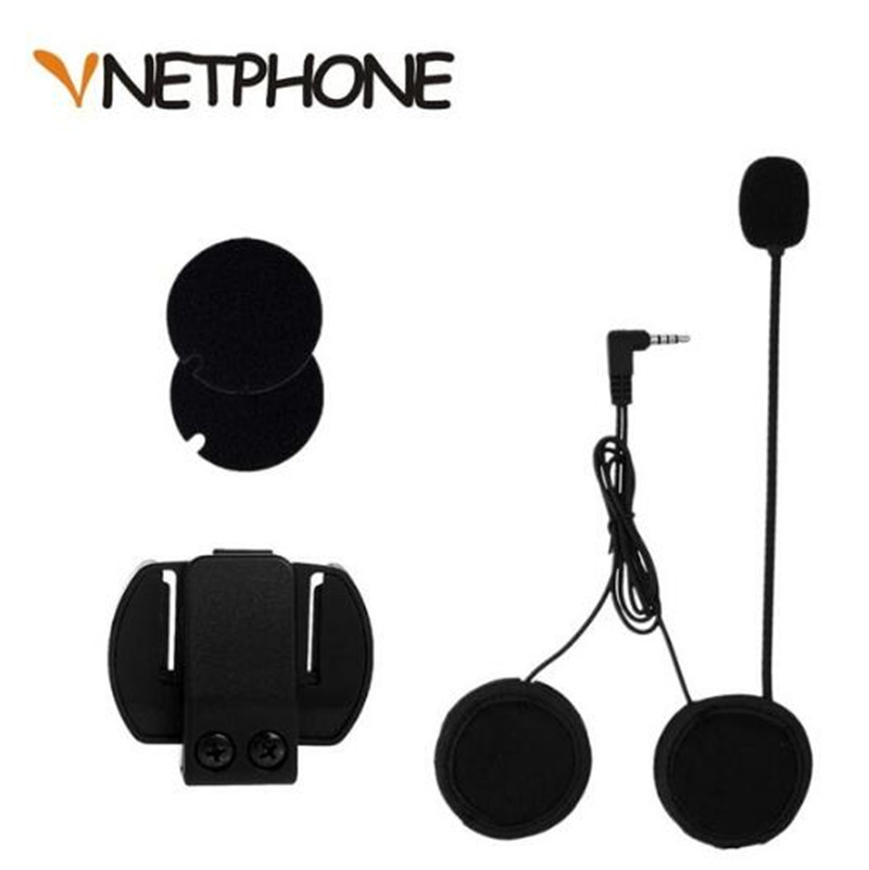VNETPHONE 3.5mm Jack Microphone Speaker Headset And Helmet Intercom Clip For Motorcycle Bluetooth Device Vnetphone V4 V6