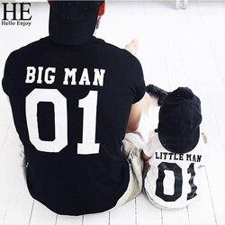 HE Hello Enjoy/одинаковые комплекты для семьи 2019 г. Летние Семейные комплекты для папы и сына, одежда, футболка для папы и сына