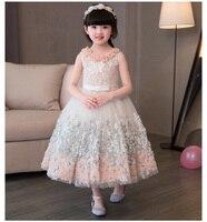 Kids Girl Flower Princess Dress Toddler Girl Party Dress Girls Wedding Dress Ball Gown for 1 12 year