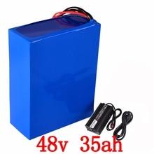 48 В батарея 48 В 35AH литиевый аккумулятор 48 В 2000 Вт батарея самоката 48 В 35AH Электрический велосипед аккумулятор с 50A BMS 54,6 В зарядное устройство