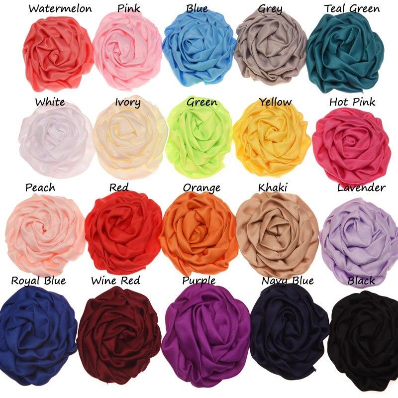 10 шт. шифоновыми оборками бутон розы 8 см цветок Модные аксессуары для волос украшение цветок DIY аксессуары без заколку для волос