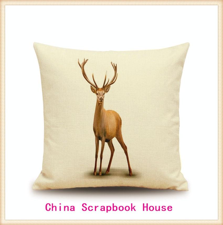 Panfelou 45 45cm Comfortabledistant King Deer Buffy Pillow Case For