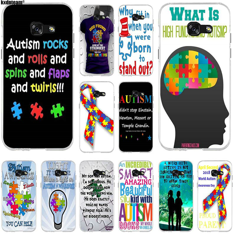2019 Latest Design 259sd Puzzle Autism Awareness Style Soft Silicone Tpu Cover Phone Case For Samsung J3 J5 J7 2015 16 17 J2 J4 Prime J6 Plus 2018 For Fast Shipping Half-wrapped Case Phone Bags & Cases