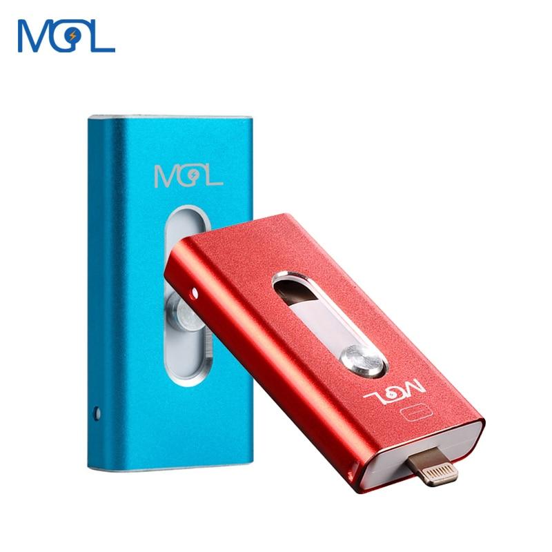 MGL OTG USB flash drive Usb 2.0 pen drive para o iphone/iPAD/Android SmartPhone/Tablet/PC 8GB GB GB 64 32 16GB 128GB Pendrive
