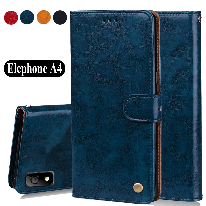 """Luxury PU Leather Slip-resistant Flip Wallet Case For Elephone A4 Book Case 5.85"""" Back Cover Case W01"""